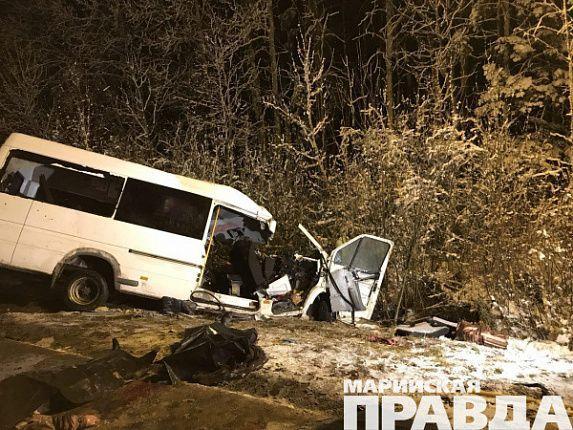 Стали известны детали чудовищного ДТП слесовозом имикроавтобусом вМарий Эл